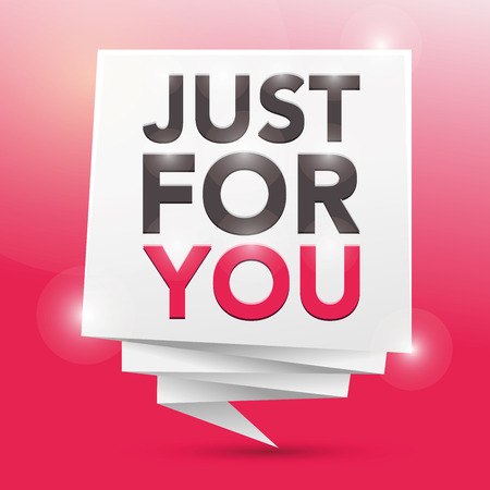 just: JUST FOR YOU, poster design element