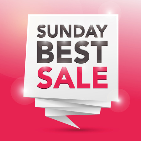SUNDAY BEST SALES EVENT, poster design element