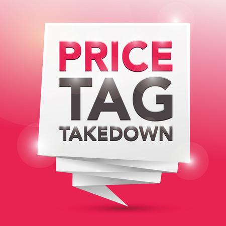 pricetag: PRICE-TAG TAKEDOWN, poster design element