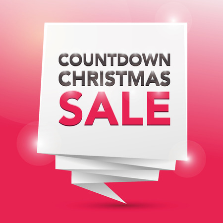 countdown: COUNTDOWN TO CHRISTMAS SALE, poster design element