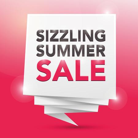 sizzling: SIZZLING SUMMER SALE , poster design element