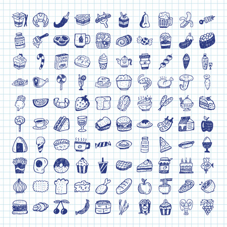 fruit: doodle food icons