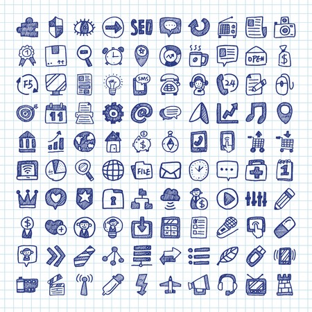 internet icons: Doodle Web Icons