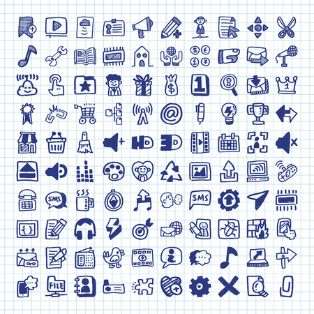 information medium: Doodle Web Icons