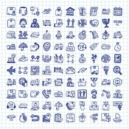 doodle logistics icons