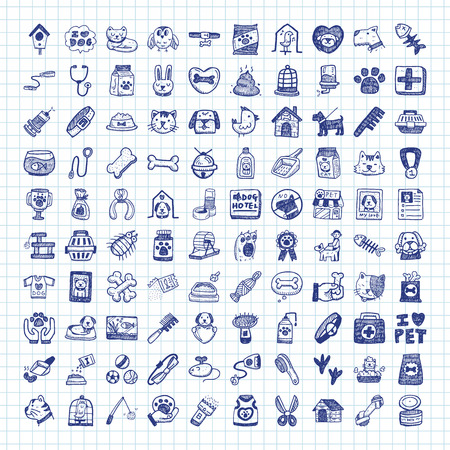 draw hands: doodle pet icons