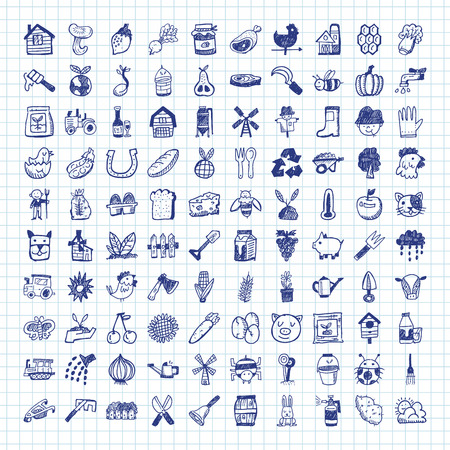 doodle farming icons