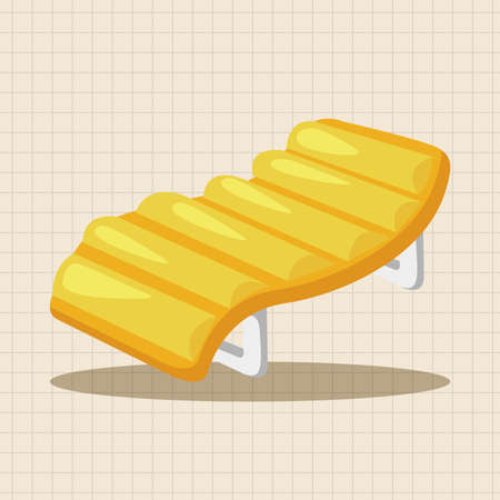loungers: beach equipment loungers theme elements Illustration