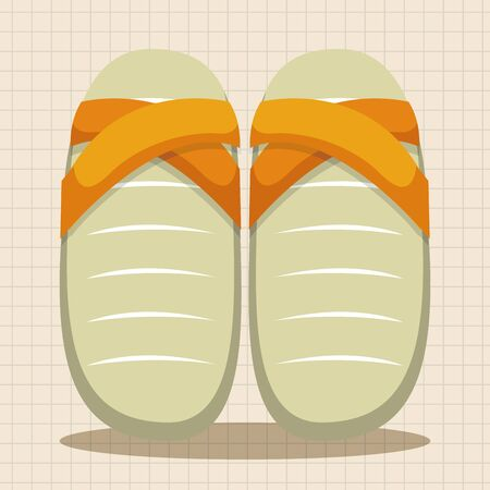 flip flop: beach equipment flip flop theme elements Illustration
