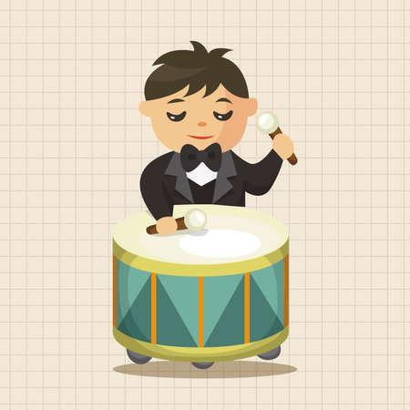 drummer: character drummer musician theme elements