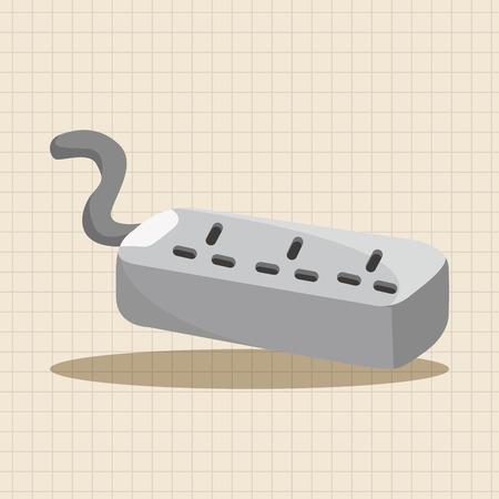 extension: Socket extension cord theme elements Illustration