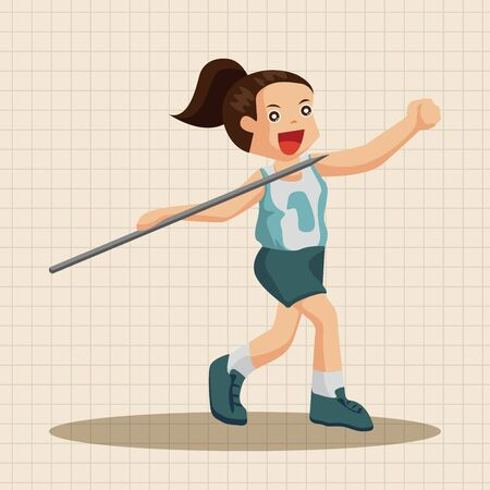 athletes: Track and field athletes theme elements