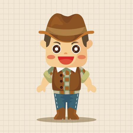 cowboy horse: cowboy theme elements