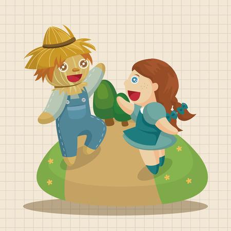 oz: The Wizard of Oz cartoon theme elements