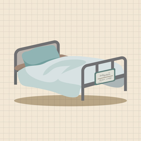 sickbed: Sickbed theme elements Illustration