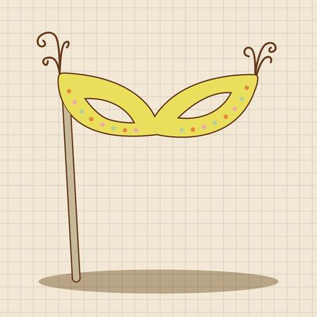 party mask: party mask theme elements Illustration