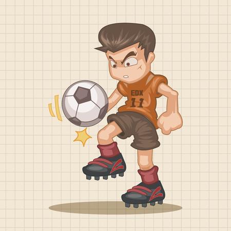 hit man: Sport soccer player theme elements vector,eps Illustration