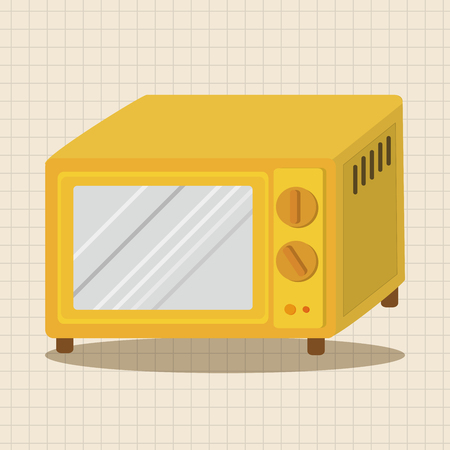 microwave: Home appliances theme microwave elements Illustration