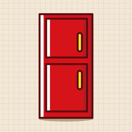 refrigerator: Home appliances theme refrigerator elements Illustration