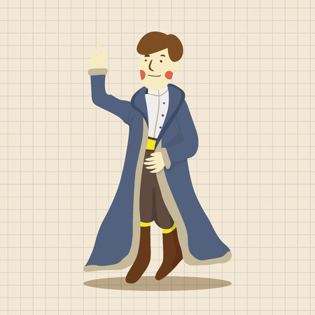 fable: Royal theme prince elements Illustration