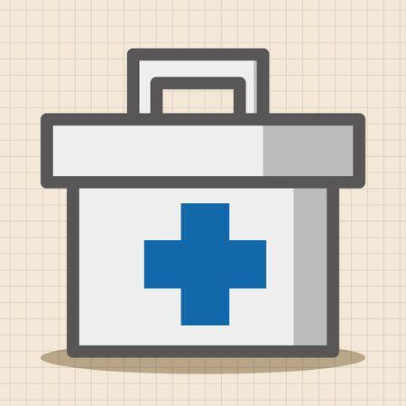 pill box: Medicine box theme elements Illustration