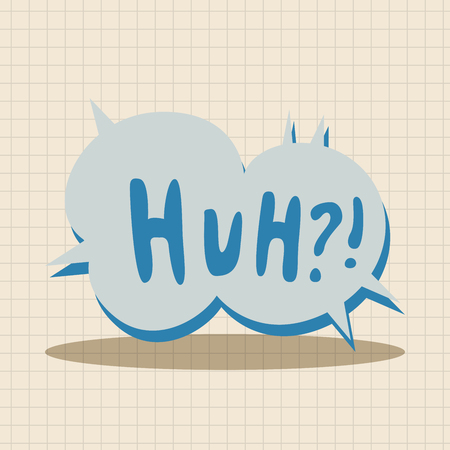 huh: message word huh theme elements