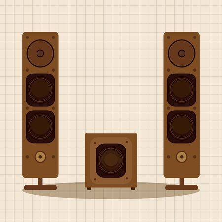stereo speakers theme elements Illustration