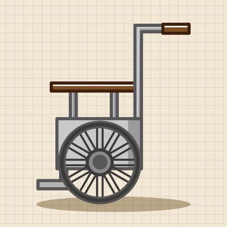 wheelchair theme elements 向量圖像