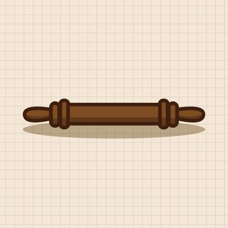 rolling pin: kitchenware rolling pin theme elements