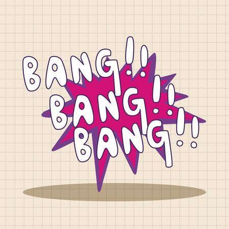 bang: message word bang theme elements
