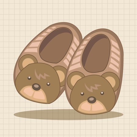 slippers: Baby supplies slippers theme elements