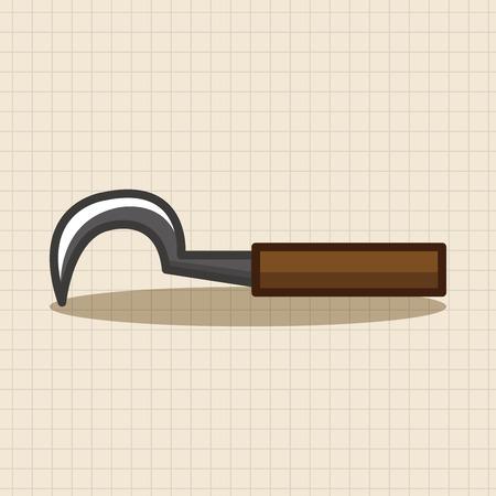 sickle: gardening sickle theme elements Illustration