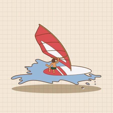 water theme: Water Sports theme elements
