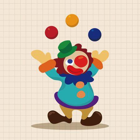clown cirque: �l�ments de th�me de clown de cirque