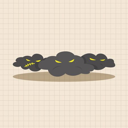 monsoon clouds: weather rainy day theme elements Illustration