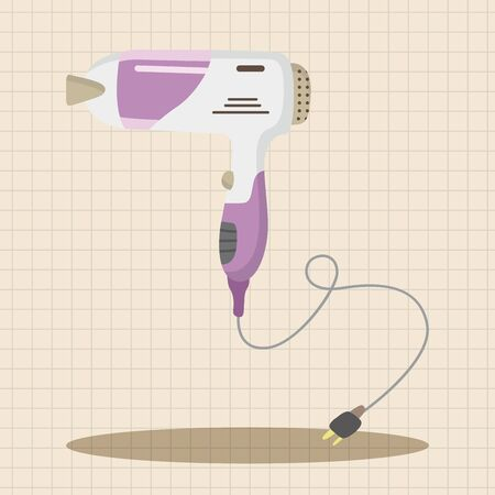 peluquero: hair products theme hair dryer elements Vectores