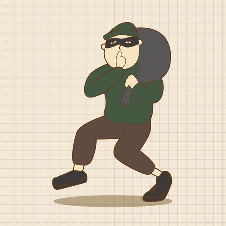 burglar: thief theme elements