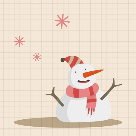 snowy: weather snowy theme elements Illustration