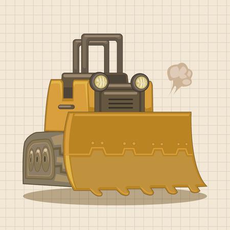 power shovel: Transportation excavator truck theme elements