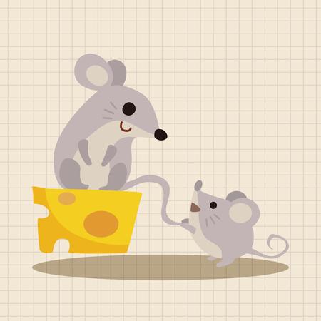nature silhouette: animal mouse cartoon theme elements Illustration
