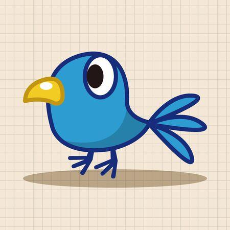 oiseau dessin: El�ments de th�mes de bande dessin�e d'oiseaux Illustration