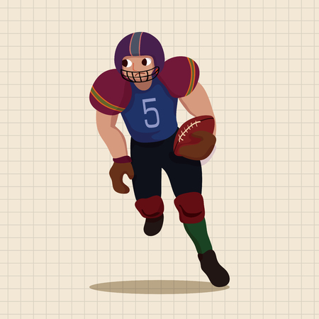 tackling: football player theme elements vector,eps Illustration