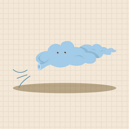 cloudy: weather cloudy day theme elements Illustration