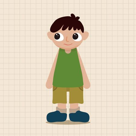 schoolkid: family boy character theme elements