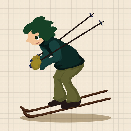 skiers: Skiers theme elements
