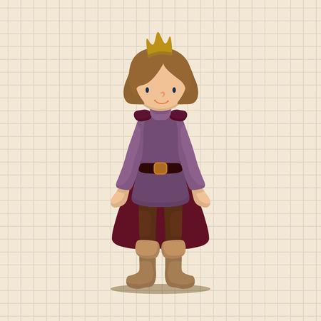 royal: Royal theme prince elements Illustration