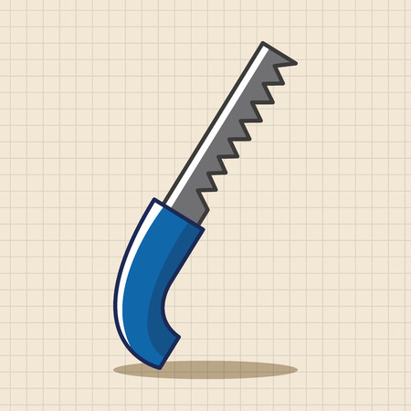 carpentry cartoon: Saws theme elements Illustration