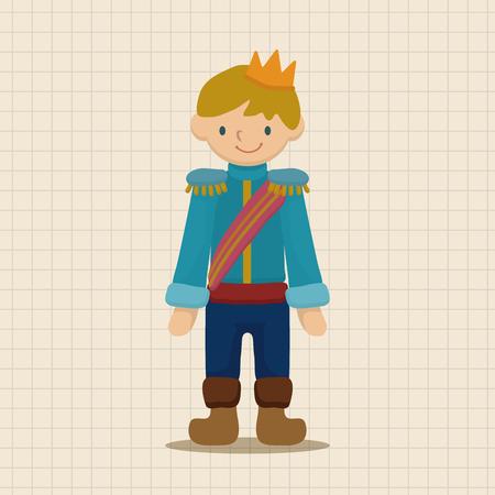 handsome boys: Royal theme prince elements Illustration