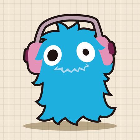 alien face: monster cartoon theme elements vector,eps
