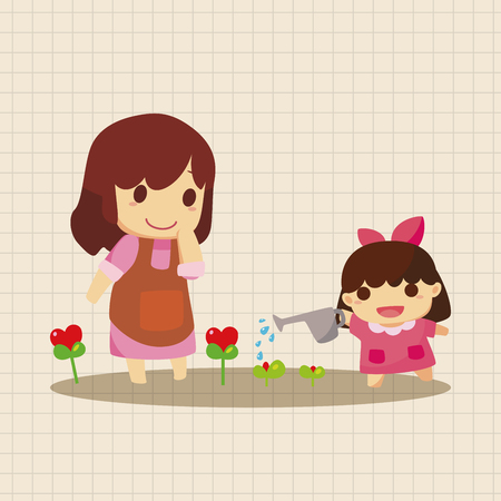 mom and daughter: family theme elements